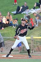 Zach Shank #2 of the Visalia Rawhide during a game against the High Desert Mavericks at Heritage Field on July 19, 2014 in Adelanto, California. Visalia defeated High Desert, 10-9. (Larry Goren/Four Seam Images)