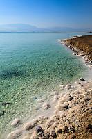 Israel, Galilee, Dead sea,Ein Bokek, Salt formations