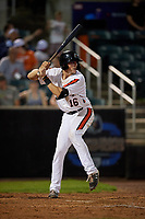 Aberdeen IronBirds Toby Welk (16) at bat during a NY-Penn League game against the Vermont Lake Monsters on August 19, 2019 at Leidos Field at Ripken Stadium in Aberdeen, Maryland.  Aberdeen defeated Vermont 6-2.  (Mike Janes/Four Seam Images)