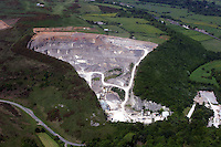 Aerial view of quarry near St Brides Major Bridgend