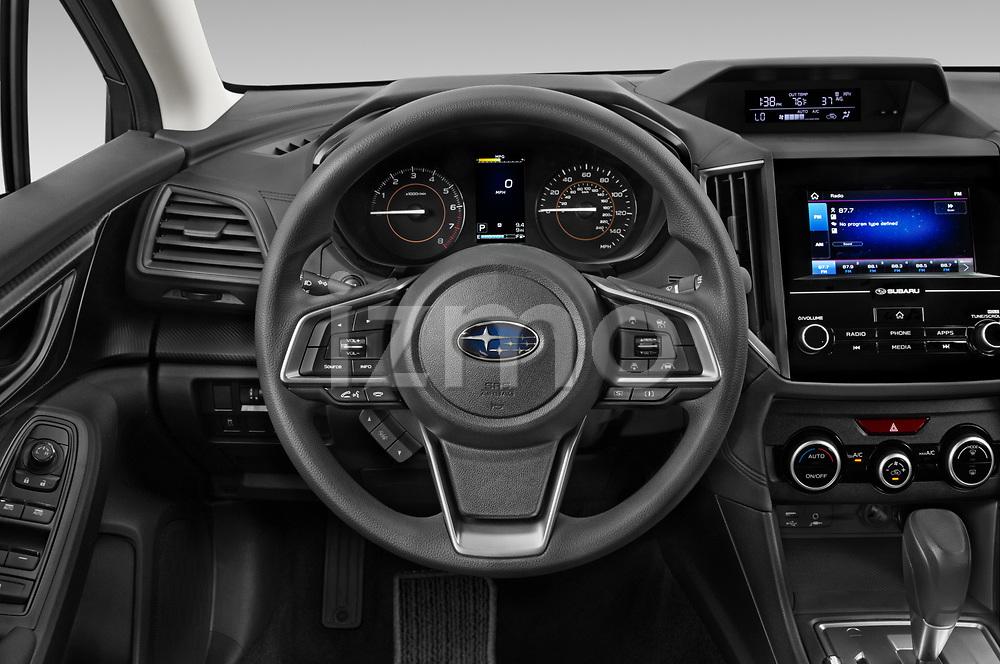 Car pictures of steering wheel view of a 2021 Subaru Crosstrek - 5 Door SUV Steering Wheel