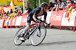Adam Yates (GBR) Ineos Gremadiers attacks on the final climb at the end of Stage 15 of La Vuelta d'Espana 2021, running 197.5km from Navalmoral de la Mata to El Barraco, Spain. 29th August 2021.     <br /> Picture: Luis Angel Gomez/Photogomezsport | Cyclefile<br /> <br /> All photos usage must carry mandatory copyright credit (© Cyclefile | Luis Angel Gomez/Photogomezsport)