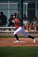 Ethan Creel (13) of Corner High School in Gardendale, Alabama during the Baseball Factory All-America Pre-Season Tournament, powered by Under Armour, on January 13, 2018 at Sloan Park Complex in Mesa, Arizona.  (Mike Janes/Four Seam Images)