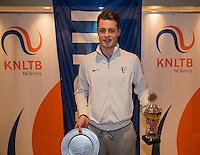 Hilversum, Netherlands, December 4, 2016, Winter Youth Circuit Masters, Overall winner boys 16 years Deney Wassermann <br /> Photo: Tennisimages/Henk Koster