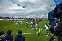 The Turbos run out for the Mitre 10 Cup Cup rugby match between Manawatu Turbos and Southland Stags at Manfeild Park in Feilding, New Zealand on Saturday, 1 November 2020. Photo: Dave Lintott / lintottphoto.co.nz