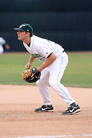September 6 2008:  First baseman Ben Lasater of the Jamestown Jammers, Class-A affiliate of the Florida Marlins, during a game at Russell Diethrick Park in Jamestown, NY.  Photo by:  Mike Janes/Four Seam Images