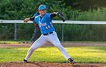 PROSPECT, CT 072231JS21 Torrington's David Strager (44) delivers a pitch during the first round of the Tri-State Baseball Playoffs against Blasius Chevrolet Friday at Hotchkiss Field in Prospect. <br /> Jim Shannon Republican American