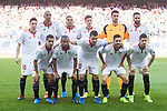 Players of Sevilla FC line up and pose for a photo prior to the La Liga match between Atletico de Madrid and Sevilla FC at the Estadio Vicente Calderon on 19 March 2017 in Madrid, Spain. Photo by Diego Gonzalez Souto / Power Sport Images