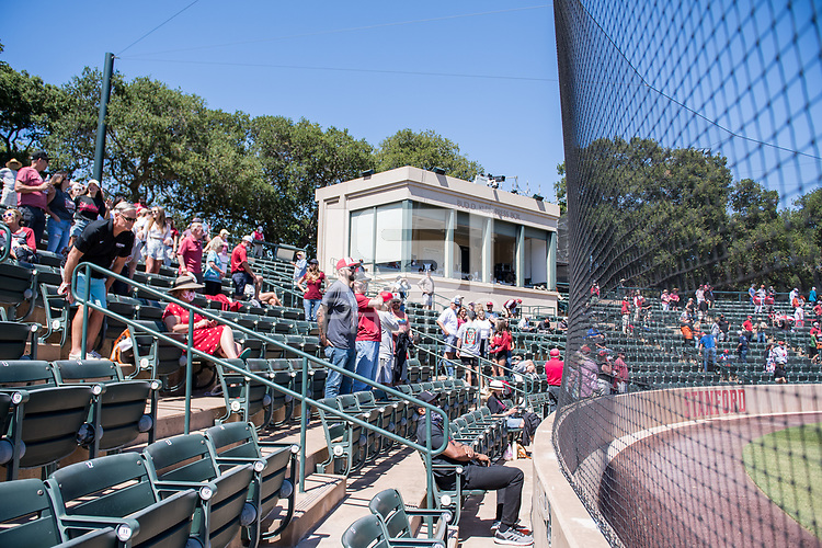 STANFORD, CA - MAY 29: Fans during a game between Oregon State University and Stanford Baseball at Sunken Diamond on May 29, 2021 in Stanford, California.