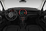 Stock photo of straight dashboard view of a 2019 Mini Cooper Hardtop 2 Door 3 Door Hatchback