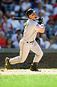 CHICAGO - CIRCA 1998:  Jeff Bagwell #5 of the Houston Astros bats during an MLB game at Wrigley Field in Chicago, Illinois. Bagwell played for 15 seasons, all with the Houston Astros, was a 4-time All-Star and was inducted to the Baseball Hall of Fame in 2017.(David Durochik / SportPics) --Jeff Bagwell