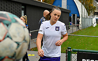 Tine De Caigny (6 Anderlecht) pictured during a female soccer game between Club Brugge Dames YLA and RSC Anderlecht Ladies on the fifth matchday of the 2020 - 2021 season of Belgian Scooore Womens Super League , sunday 18 October 2020  in Brugge , Belgium . PHOTO SPORTPIX.BE | SPP | DAVID CATRY
