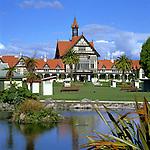 New Zealand, North Island, Rotorua: Bath House & Government Gardens | Neuseeland, Nordinsel, Rotorua: Bath House und Government Gardens