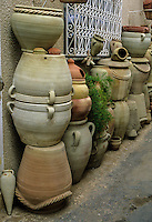 Ceramics, Nabeul, Tunisia.  Pottery for Garden Use.  Ladjili Enterprises.