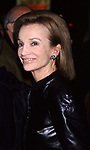 "Lee Radzwill attends the Opening night of ""Though Shalt Not"" on October 26, 2001 at the Plymouth Theater in  New York City."