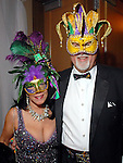 """Cathey Granello and Michael Bryer from New Orleans at the San Luis Salute to """"The Italian Riviera"""" at the Galveston Island Convention Center at the San Luis Friday  Feb. 20, 2009.(Dave Rossman/For the Chronicle)"""