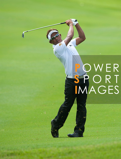 Thongchai Jaidee in action during a practice round of the CIMB Asia Pacific Classic 2011.  Photo © Andy Jones / PSI for Carbon Worldwide