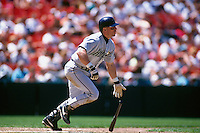 SAN FRANCISCO, CA - Jeff Bagwell of the Houston Astros in action during a game against the San Francisco Giants at Candlestick Park in San Francisco, California in 1995. Photo by Brad Mangin