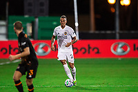 LAKE BUENA VISTA, FL - JULY 23: Rolf Feltscher #25 of the LA Galaxy dribbles the ball during a game between Los Angeles Galaxy and Houston Dynamo at ESPN Wide World of Sports on July 23, 2020 in Lake Buena Vista, Florida.