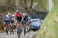 Dylan Teuns (BEL/Bahrain - Victorious) up the Hagaard<br /> <br /> 61st Brabantse Pijl 2021 (1.Pro)<br /> 1 day race from Leuven to Overijse (BEL/202km)<br /> <br /> ©kramon