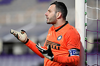 Samir Handanovic of FC Internazionale reacts during the Italy Cup round of 16 football match between ACF Fiorentina and FC Internazionale at Artemio Franchi stadium in Firenze (Italy), January 13th, 2021. Photo Andrea Staccioli / Insidefoto