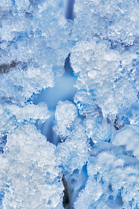 Ice near Multnomah Falls. Oregon