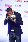 Real Madrid´s Cristiano Ronaldo receives the Golden Boot `Bota de Oro´ 2013-14 to the best striker, at Melia Hotel in Madrid, Spain. November 05, 2014. (ALTERPHOTOS/Victor Blanco)