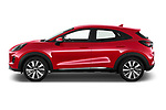 Car Driver side profile view of a 2020 Ford Puma Titanium-X 5 Door SUV Side View