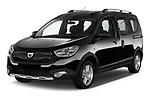 2017 Dacia Dokker Stepway SL Explorer 5 Door Mini Van angular front stock photos of front three quarter view