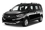 2017 Dacia Dokker Stepway SL Explorer 5 Door Mini Van angular front stock photos of front three quarter view