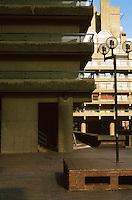 London:   Barbican--facade weathering.  Photo '90.