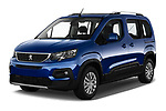 2019 Peugeot Rifter Allure Door Mini Mpv Angular Front stock photos of front three quarter view