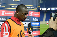 Harrison, NJ - Wednesday Feb. 22, 2017: Bradley Wright-Phillips after a Scotiabank CONCACAF Champions League quarterfinal match between the New York Red Bulls and the Vancouver Whitecaps FC at Red Bull Arena.