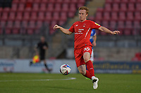 Danny Johnson of Leyton Orient in action during the EFL Trophy behind closed doors match between Leyton Orient and Brighton & Hove Albion Under 21s at the Matchroom Stadium, London, England played without supporters able to attend due to ongoing covid-19 government guidelines on 8 September 2020. Photo by Vince  Mignott.