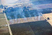 aerial photograph controlled burn, Lake County, California