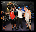 19/10/2008  Copyright Pic: James Stewart.File Name : sct_jspa06_celeb_boxing.FRANK MCAVENIE LOLSES HIS TITLE OF WORLD CELEBRITY BOXING CHAMPION TO TOMMY SHERIDAN AT THE INCHYRA GRANGE HOTEL....James Stewart Photo Agency 19 Carronlea Drive, Falkirk. FK2 8DN      Vat Reg No. 607 6932 25.Studio      : +44 (0)1324 611191 .Mobile      : +44 (0)7721 416997.E-mail  :  jim@jspa.co.uk.If you require further information then contact Jim Stewart on any of the numbers above........
