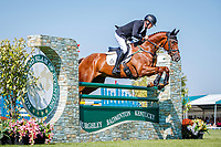 NZL-Dan Jocelyn rides Dassett Cool Touch during the Showjumping. 2018 GBR-Land Rover Burghley Horse Trials CCI4*. Sunday 2 September. Copyright Photo: Libby Law Photography