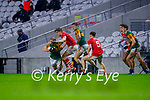 Stephen O'Brien, Kerry in action against Ian MaGuire, Cork, during the Munster GAA Football Senior Championship Semi-Final match between Cork and Kerry at Páirc Uí Chaoimh in Cork.