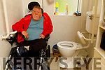 Nicky Fitzgibbon at his home in Cois Coille, Tralee on Tuesday. Nicky is a wheelchair user with respiratory problem and hits out at the Council for refusing to repair his shower due to Covid19 crisis