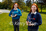 Mercy Mounthawk TY students Róise O'Donnell and Grainne Leahy who won gold in the Young Social Innovators of the Year 2021 awards and also won the Digital Innovators Award 2021 for their project Red Flags Detect to Protect project about the toxic relationships and educating people on the signs and indicators on unhealthy relationships. Front right: Róise O'Donnell and Grainne Leahy.