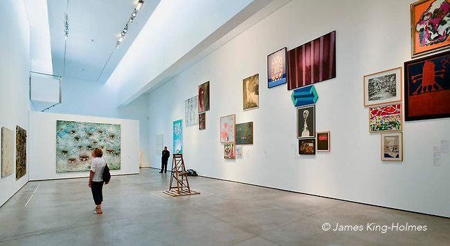 Exhibition gallery in the Es Baluard art museum in Palma de Mallorca. The collection of modern and contemporary art includes work of many artists associated with the Balearic Islands.