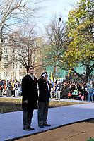Ceremonie du souvenir, le 11 novembre 2012.<br /> <br /> PHOTOS :  Agence Quebec PresseNov 11, 2012 - Montreal, Quebec, CANADA -  Remembrance Day - Justin Trudeau
