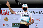 Lennard Kamna (GER) Bora-Hansgrohe wins Stage 5 of the 100th edition of the Volta Ciclista a Catalunya 2021, running 201.1km from La Pobla de Segur to Manresa, Spain. 26th March 2021.   <br /> Picture: Bora-Hansgrohe/Luis Angel Gomez/BettiniPhoto | Cyclefile<br /> <br /> All photos usage must carry mandatory copyright credit (© Cyclefile | Bora-Hansgrohe/Luis Angel Gomez/BettiniPhoto)