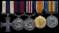 BNPS.co.uk (01202 558833)<br /> Pic: Spink&Son/BNPS<br /> <br /> The medals of a fearless British officer who stormed three machine gun posts during a daring assault have emerged for sale for £9,000.<br /> <br /> Company Sergeant Major Frederick Thorndyke, of the City of London Battalion, London Regiment, led a three man team in capturing two posts under heavy German fire.<br /> <br /> Not satisfied, he attempted to seize a third but was wounded during the dramatic action near Albert in the Battle of Amiens in August 1918.<br /> <br /> He was awarded a prestigious Military Cross for 'conspicuous courage and qualities of leadership' when all the officers around him had been killed or wounded.<br /> <br /> It was his third gallantry award in two years after receiving the Military Medal and Distinguished Conduct Medal for his Western Front heroics. His medals are going under the hammer with London-based auctioneers Spink & Son.