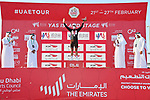 Tony Gallopin (FRA) AG2R Citroen Team wins the intermediate sprints Black Jersey classification at the end of Stage 7 of the 2021 UAE Tour running 165km from Yas Island to Abu Dhabi Breakwater, Abu Dhabi, UAE. 27th February 2021.<br /> Picture: LaPresse/Gian Mattia D'Alberto   Cyclefile<br /> <br /> All photos usage must carry mandatory copyright credit (© Cyclefile   LaPresse/Gian Mattia D'Alberto)