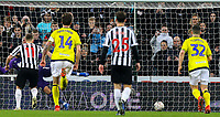 Newcastle United's Matt Ritchie slots the equaliser from the penalty spot<br /> <br /> Photographer Alex Dodd/CameraSport<br /> <br /> Emirates FA Cup Third Round - Newcastle United v Blackburn Rovers - Saturday 5th January 2019 - St James' Park - Newcastle<br />  <br /> World Copyright © 2019 CameraSport. All rights reserved. 43 Linden Ave. Countesthorpe. Leicester. England. LE8 5PG - Tel: +44 (0) 116 277 4147 - admin@camerasport.com - www.camerasport.com