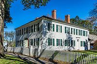 Williams House in historic Deerfield, Massachusetts, USA.