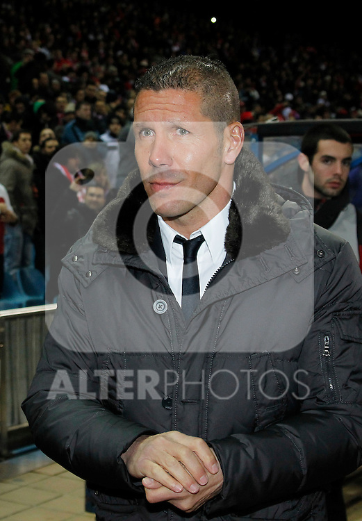 Madrid (05/02/2012) LIGA BBVA.Atletico de Madrid- Valencia C.F...Diego Pablo Simeone......