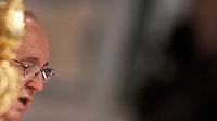 Papa Francesco celebra una messa in occasione dell'apertura della Porta Santa della Basilica di San Giovanni in Laterano a Roma, 13 dicembre 2015.<br /> Pope Francis celebrates a mass on the occasion of the opening of the Holy Door of St. John Lateran's Basilica in Rome, 13 December 2015.<br /> UPDATE IMAGES PRESS/Isabella Bonotto<br /> <br /> STRICTLY ONLY FOR EDITORIAL USE