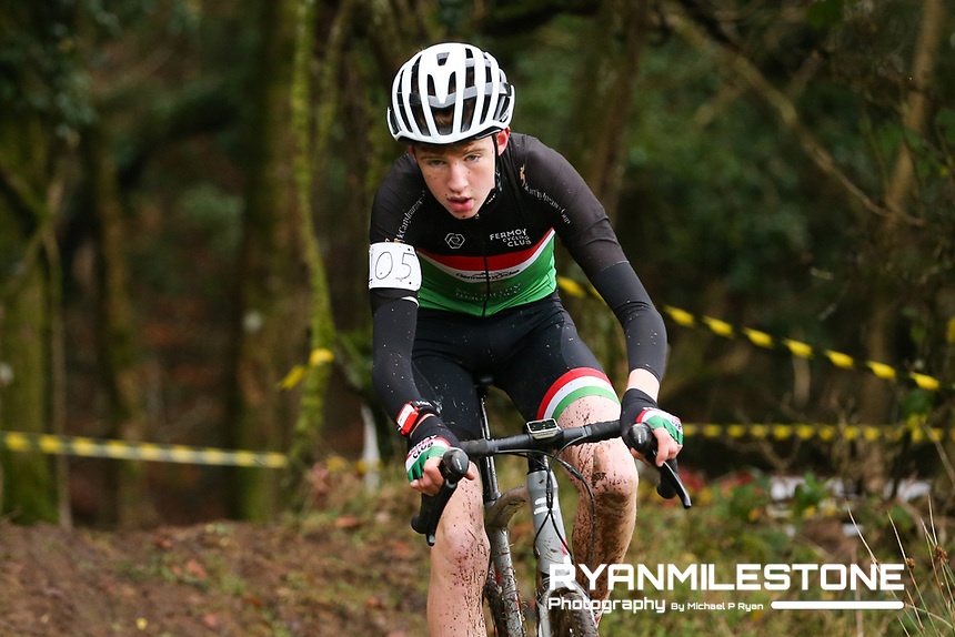 EVENT:<br /> Round 5 of the 2019 Munster CX League<br /> Drombane Cross<br /> Sunday 1st December 2019,<br /> Drombane, Co Tipperary<br /> <br /> CAPTION:<br /> Liam O'Brien of Fermoy Cycling Club in action during the U16 Race<br /> <br /> Photo By: Michael P Ryan